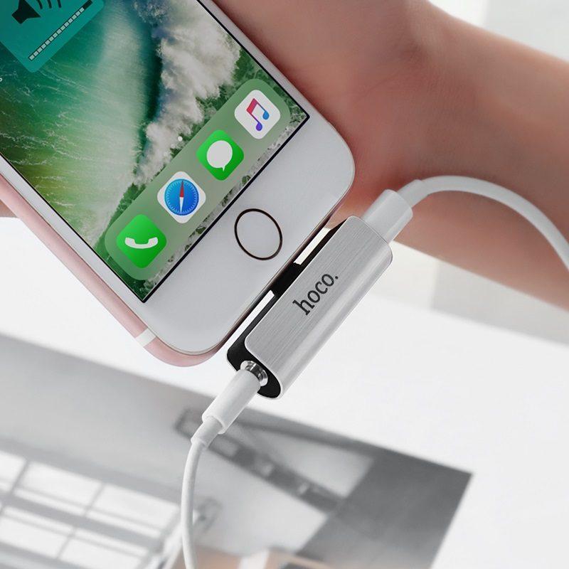 hoco ls25 digital lightning to 3 5mm audio converter for apple phone
