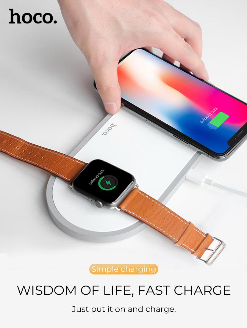 hoco news cw20 wisdom 2in1 wireless charger fast en