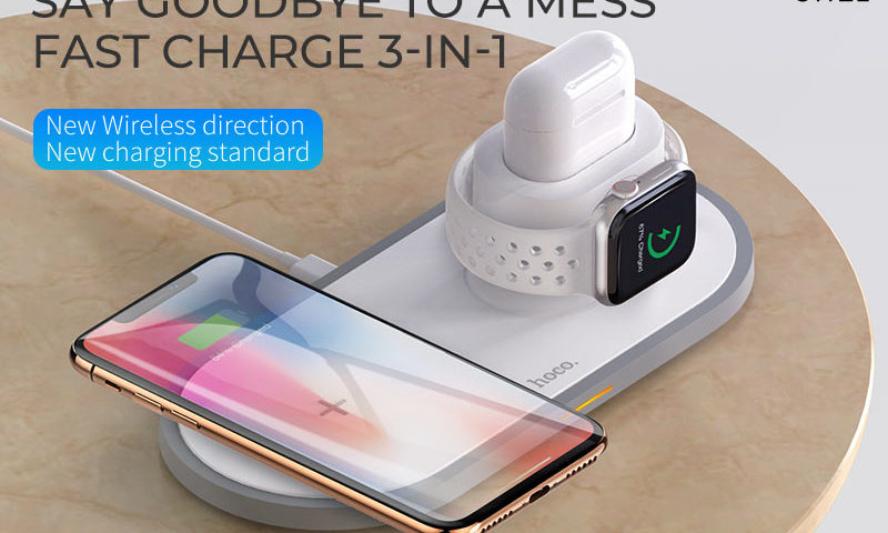 hoco news cw21 wisdom 3in1 wireless charger banner en