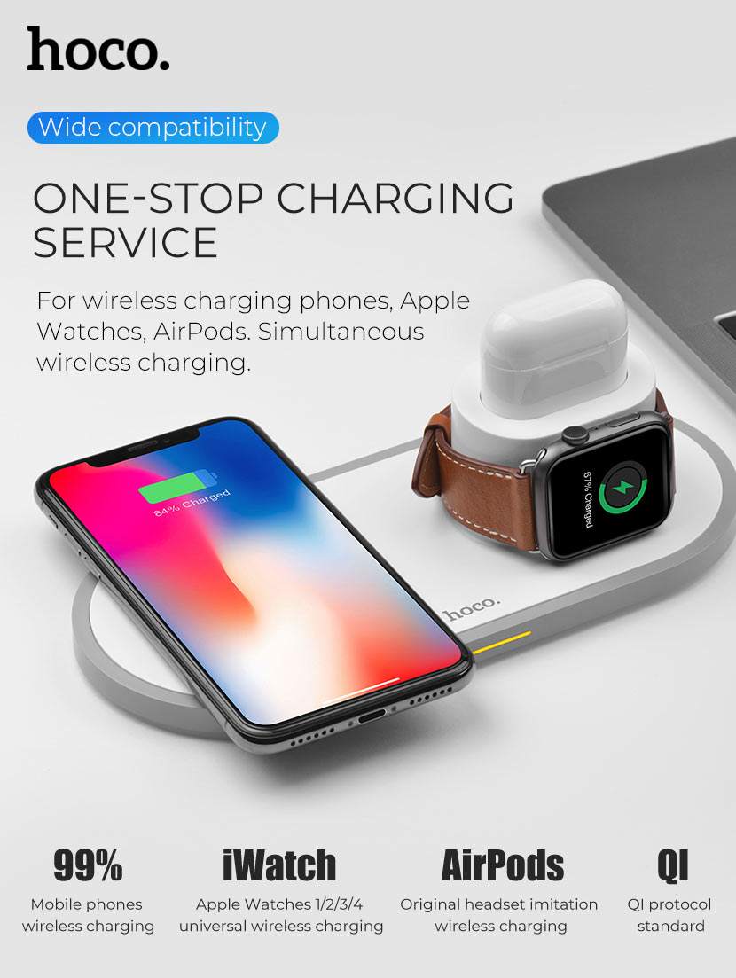 hoco news cw21 wisdom 3in1 wireless charger support en