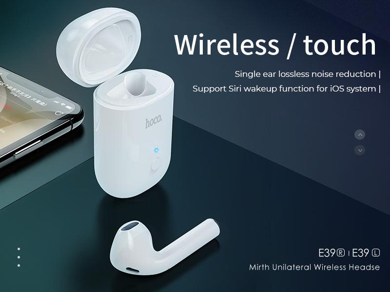 hoco news e39 e39l mirth unilateral wireless headset left right ear banner en