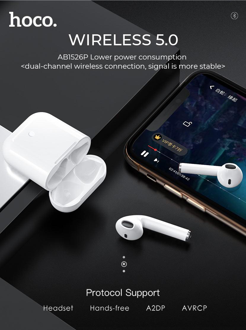 hoco news es26 original series apple wireless headset case en
