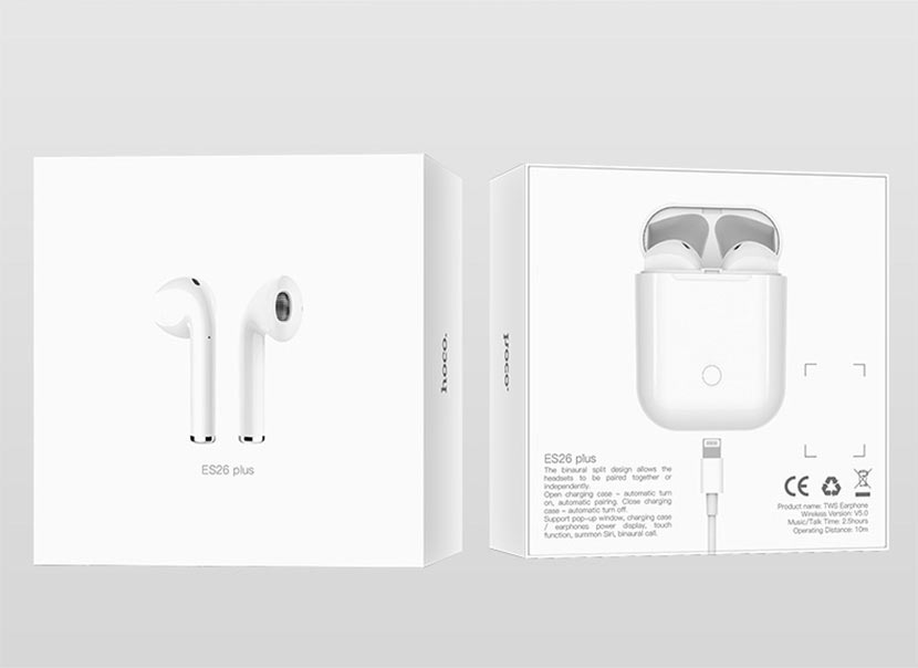 hoco news es26 original series apple wireless headset package