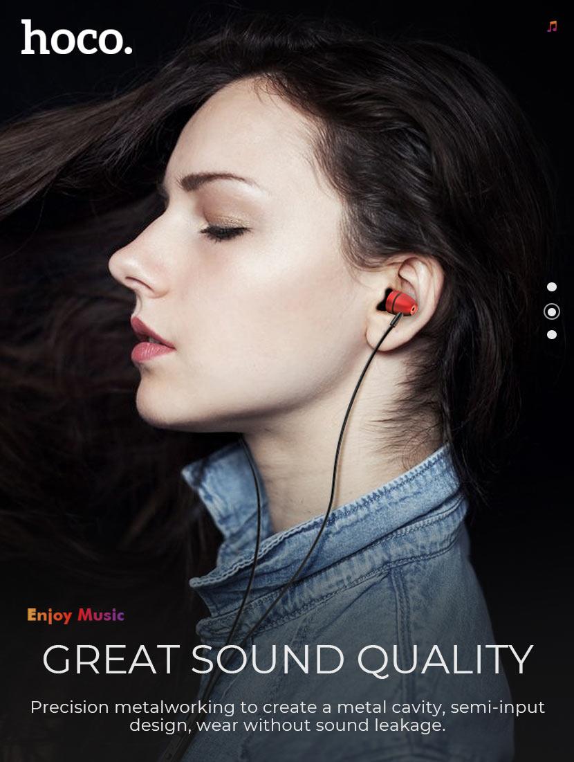 hoco news m59 magnificent universal earphones with mic overview en