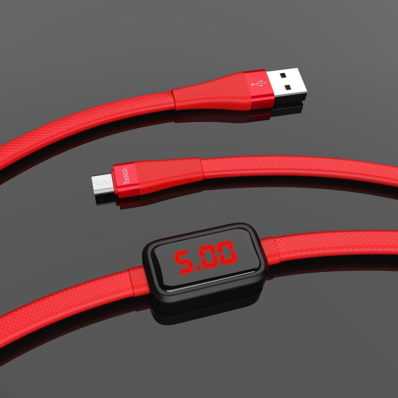 hoco s4 charging data cable with timing display for micro usb