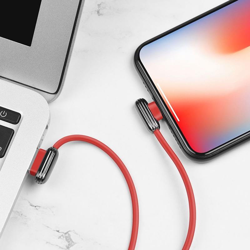 hoco u60 soul secret charging data cable for lightning charger