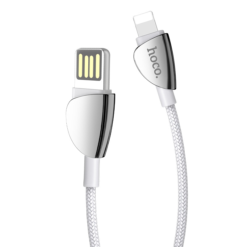 hoco u62 simple charging data cable for lightning connectors silver