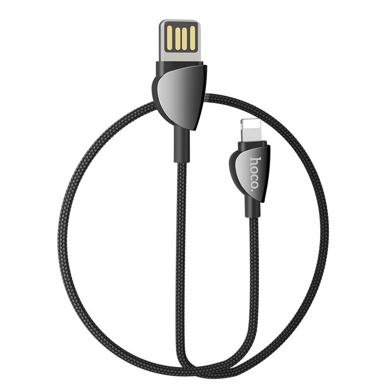 hoco u62 simple charging data cable for lightning rounded