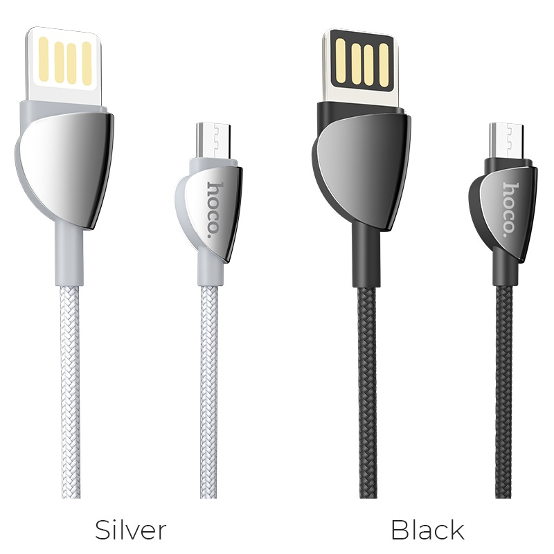 hoco u62 simple charging data cable for micro usb colors