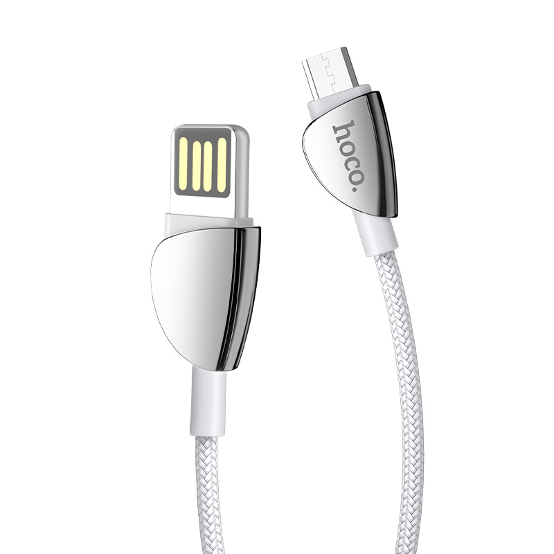 hoco u62 simple charging data cable for micro usb connectors silver