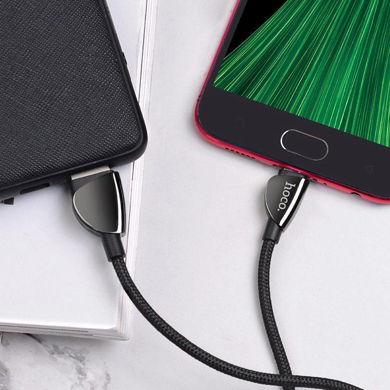 hoco-u62-simple-cзарядный-дата-кабель-для-micro-usb-интерьер-черный