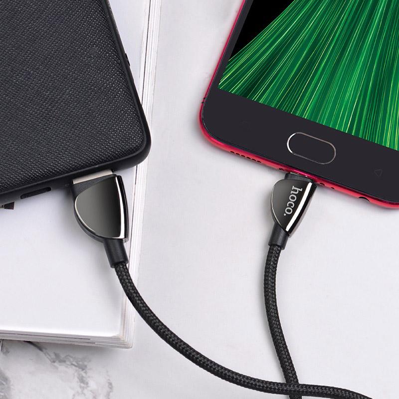 hoco u62 simple charging data cable for micro usb interior black