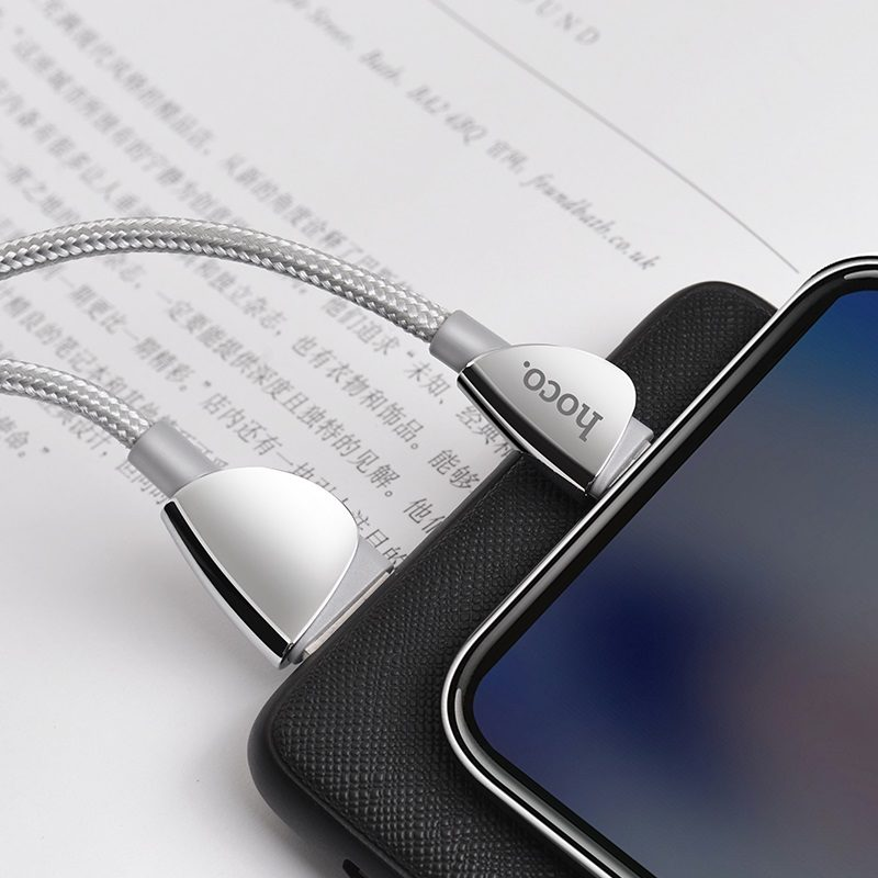 hoco-u62-simple-cзарядный-дата-кабель-для-micro-usb-интерьер-серый