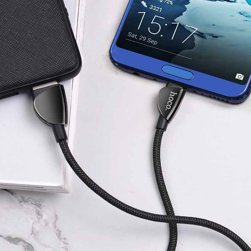 hoco u62 simple charging data cable for type c interior black