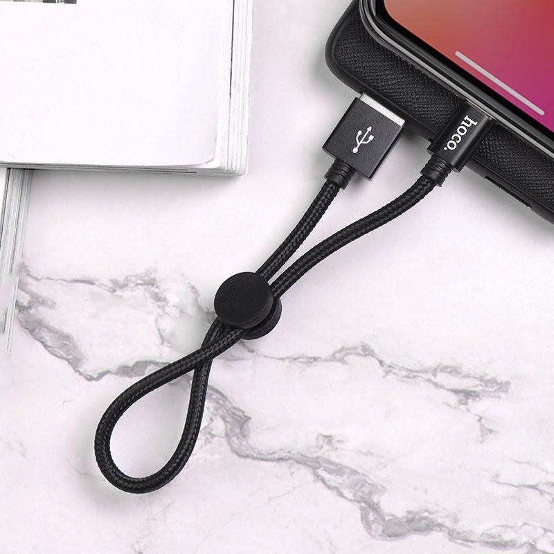hoco-x35-premium-зарядный-дата-кабель-для-lightning-черный