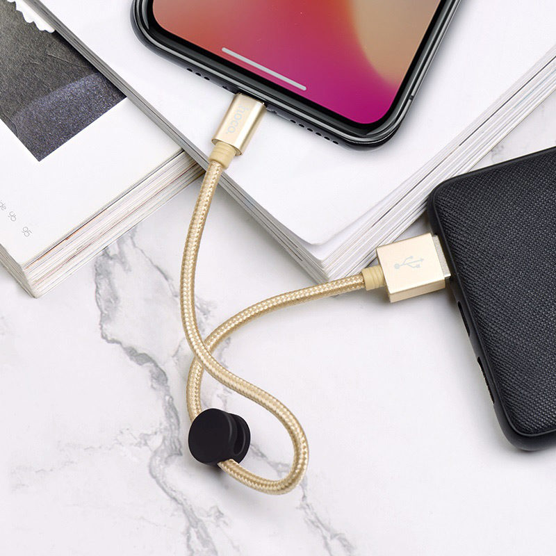 hoco x35 premium charging data cable for lightning charging gold