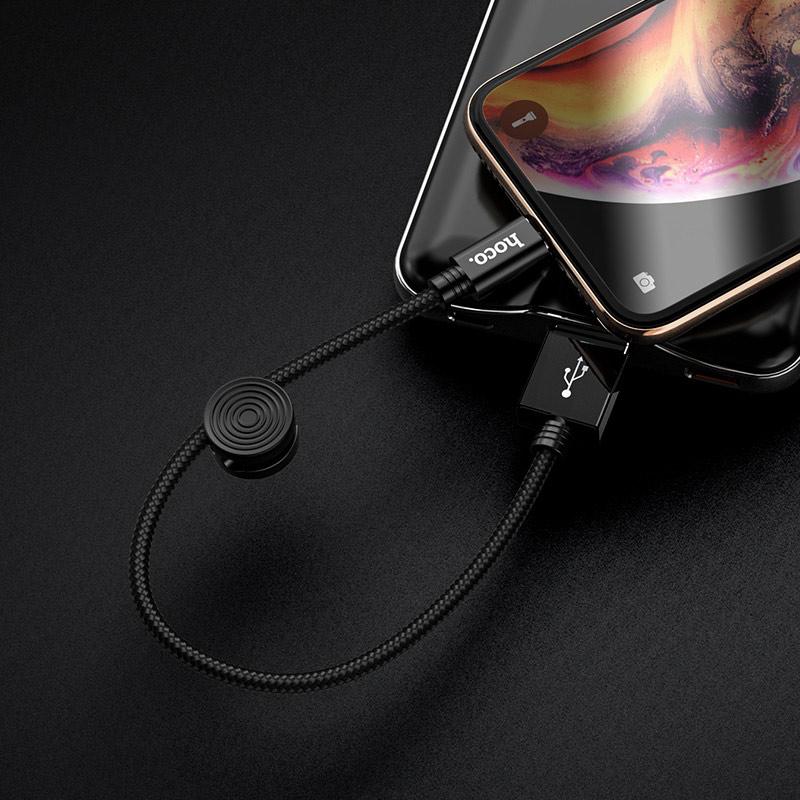 hoco x35 premium charging data cable for lightning interior black
