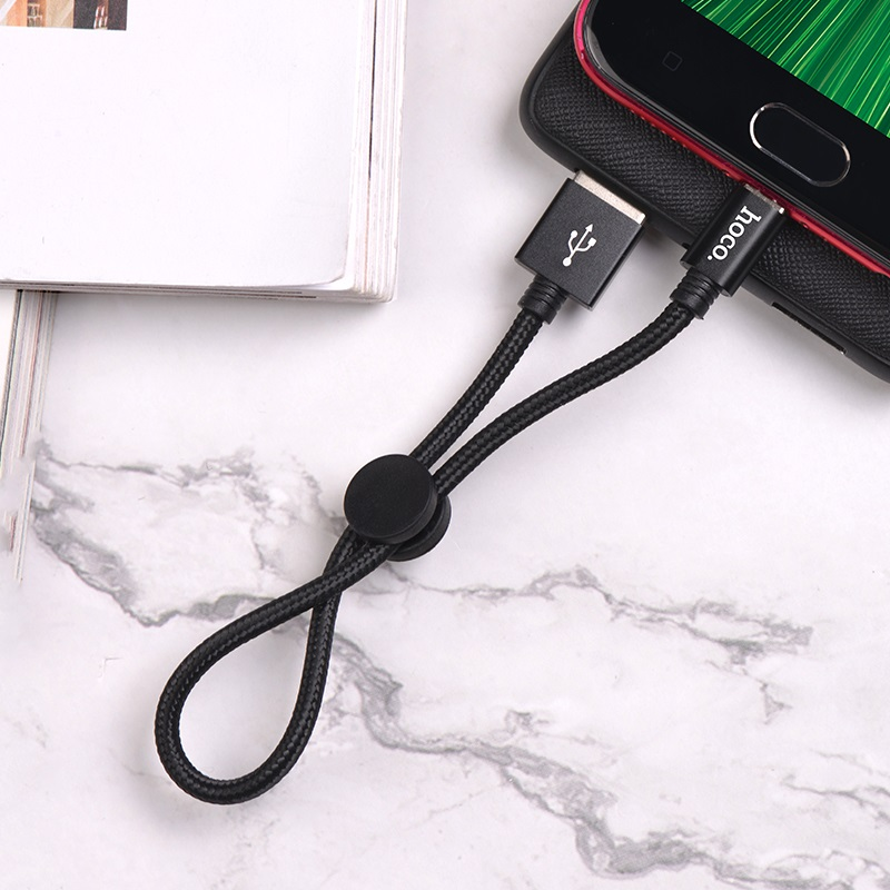 hoco x35 premium charging data cable for micro usb charging black
