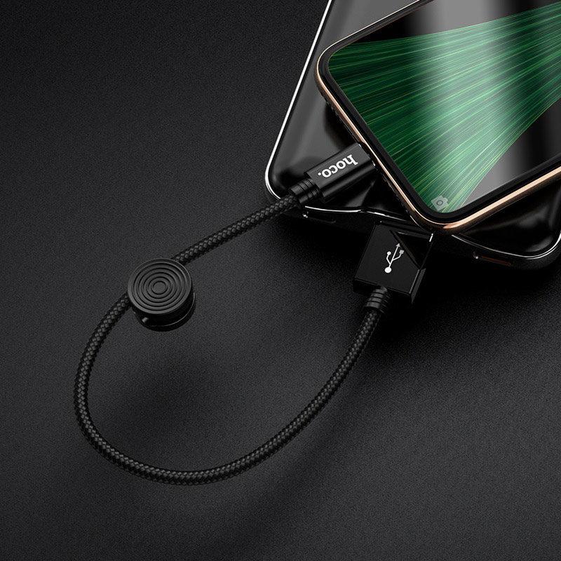hoco x35 premium charging data cable for micro usb interior black