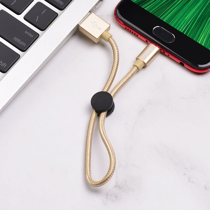 hoco x35 premium charging data cable for micro usb interior gold
