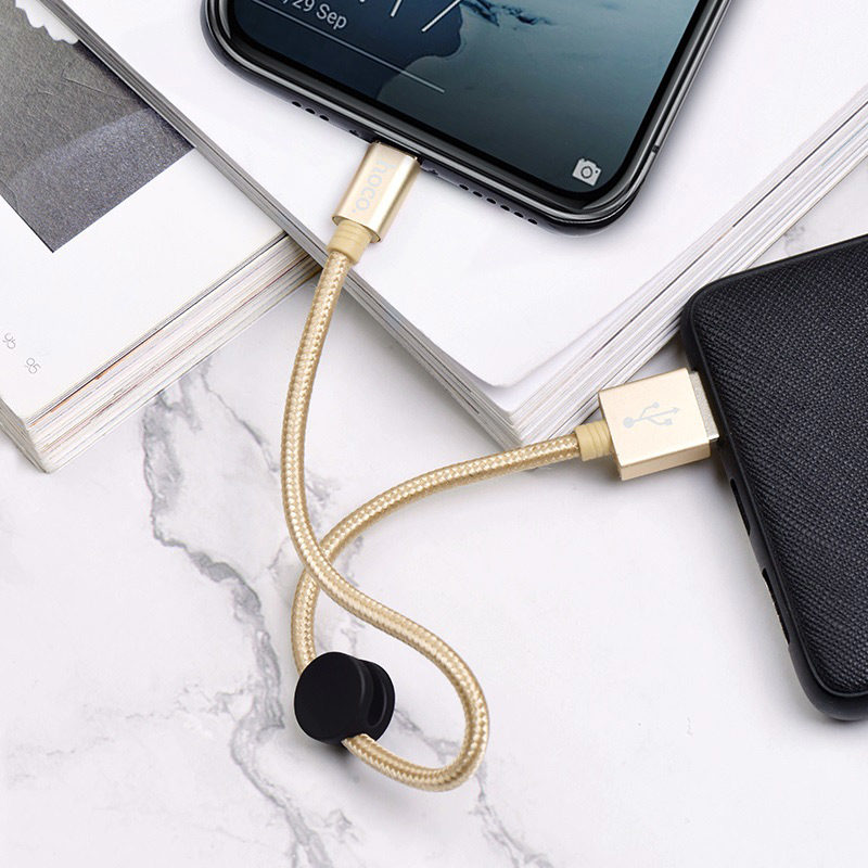 hoco x35 premium charging data cable for type c charging gold