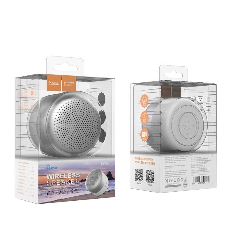 hoco bs29 gamble journey wireless speaker package front back