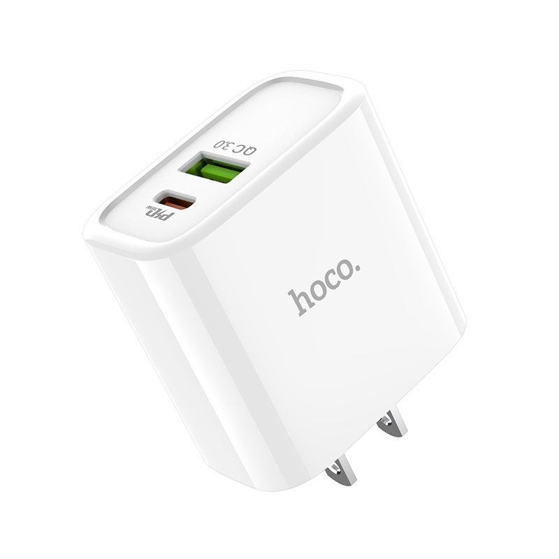 hoco c57 speed charger pd qc30 charger us logo
