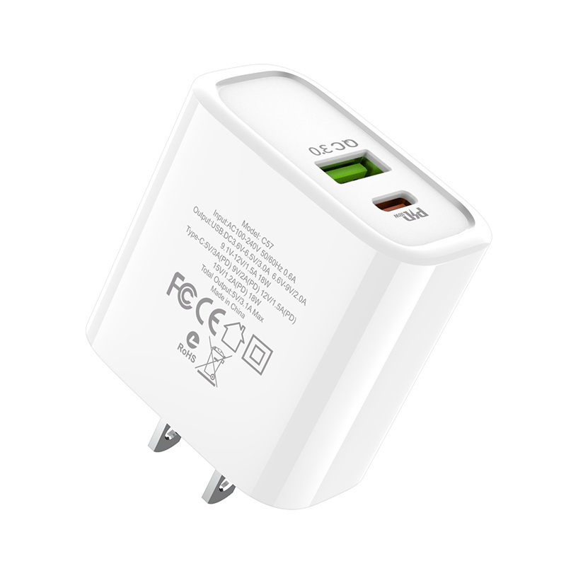 hoco c57 speed charger pd qc30 charger us ports