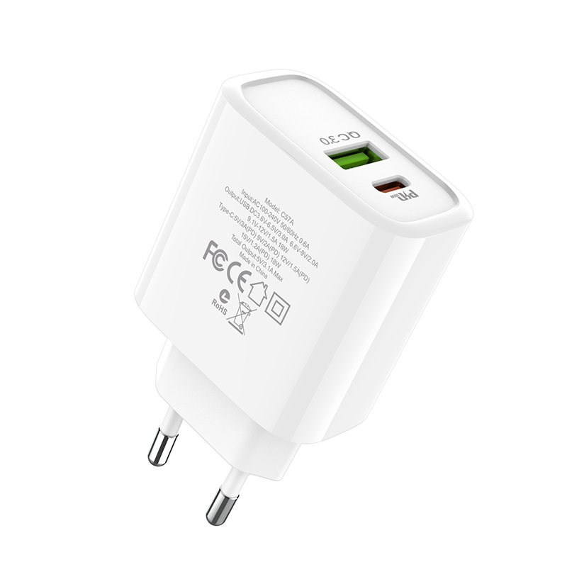 hoco c57a speed charger pd qc30 charger eu ports
