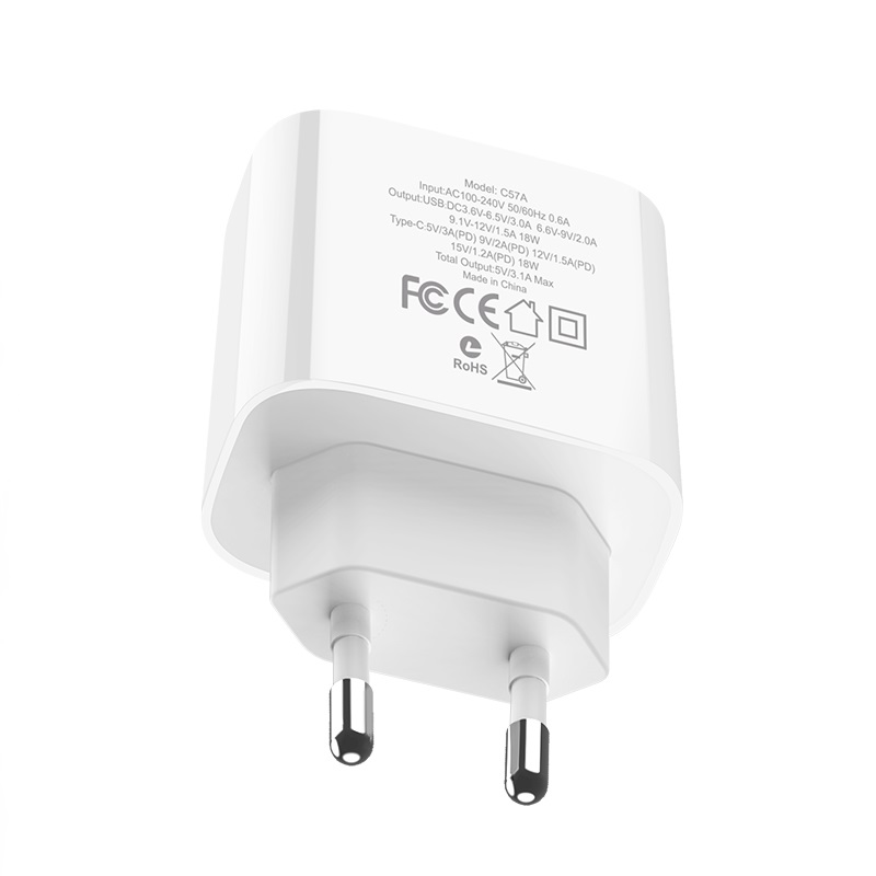 hoco c57a speed charger pd qc30 charger eu specs