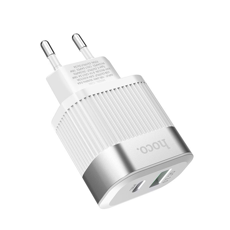 hoco c58a prominent pd qc30 charger eu housing