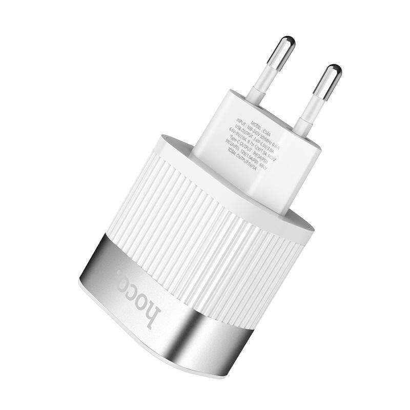 hoco c58a prominent pd qc30 charger eu plug