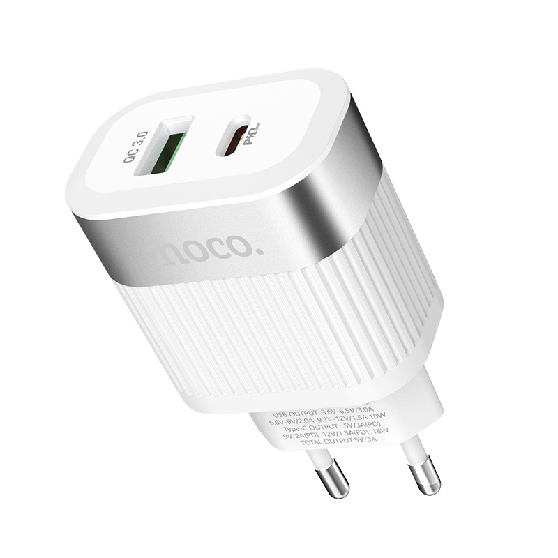 hoco c58a prominent pd qc30 charger eu ports