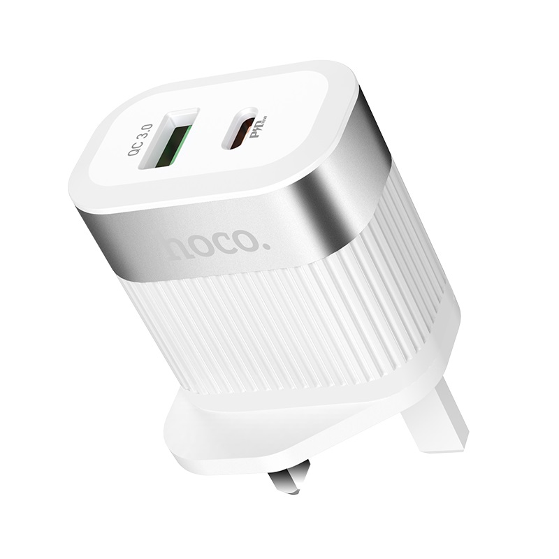 hoco c58b prominent pd qc30 wall charger uk ports
