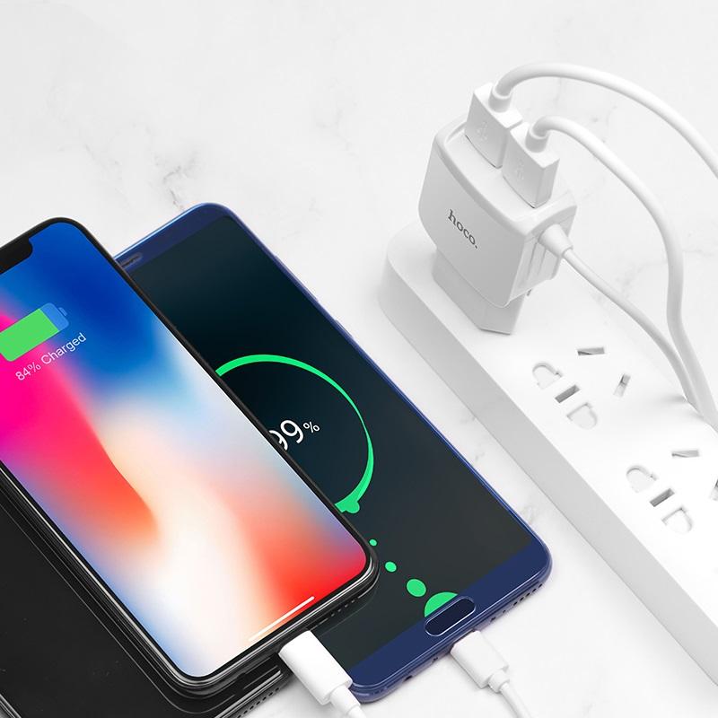 hoco c59 mega joy double port charger us micro usb overview