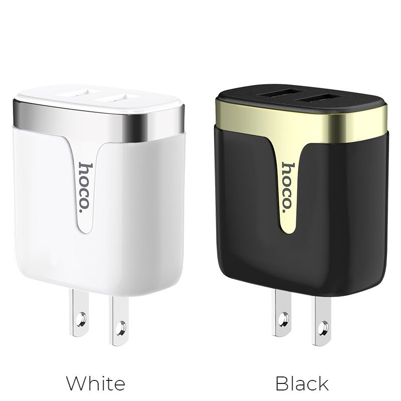 hoco c64 engraved dual port charging adapter us colors
