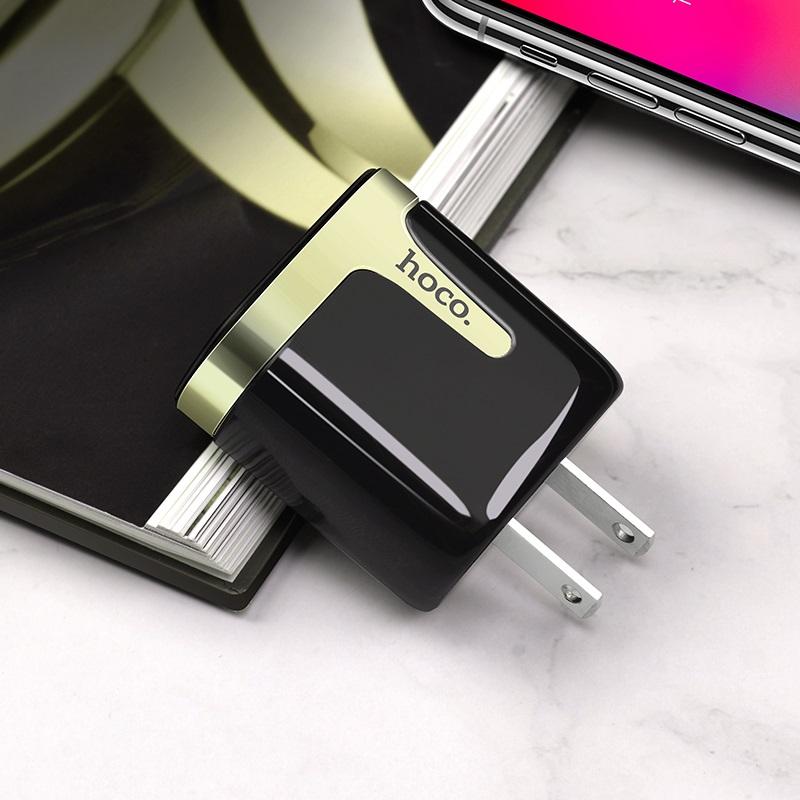 hoco c64 engraved dual port charging adapter us interior