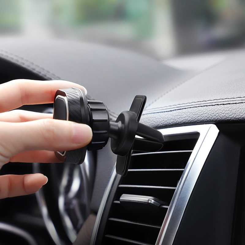 hoco ca52 intelligent air outlet in car phone holder installation