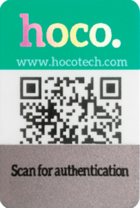 hoco double anti counterfeiting identification