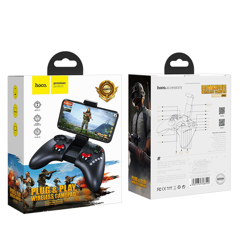 hoco gm3 continuous play gamepad packages