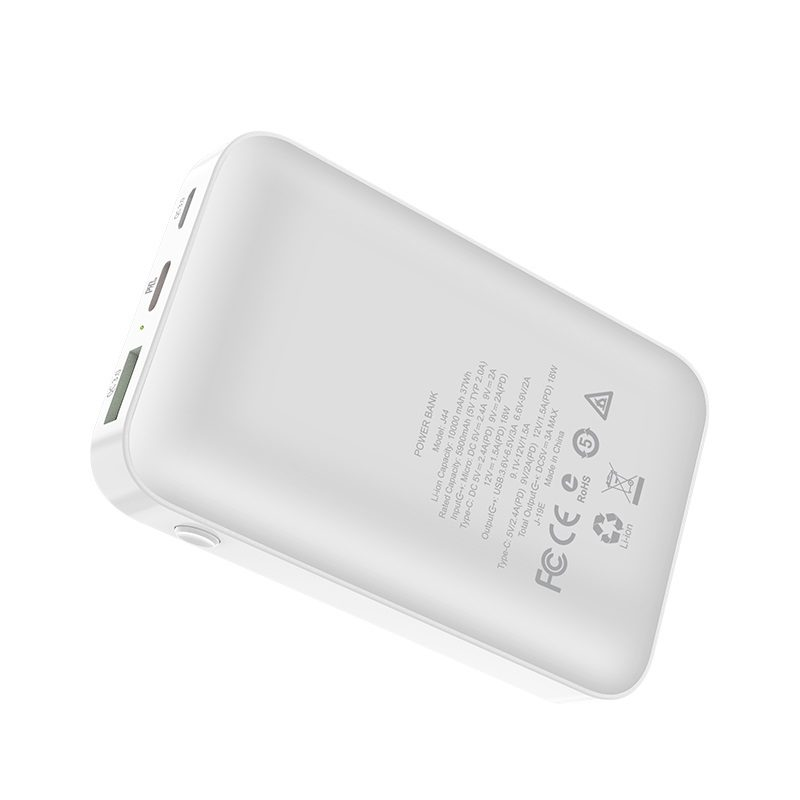hoco j44 pd qc30 mobile power bank 10000mah back