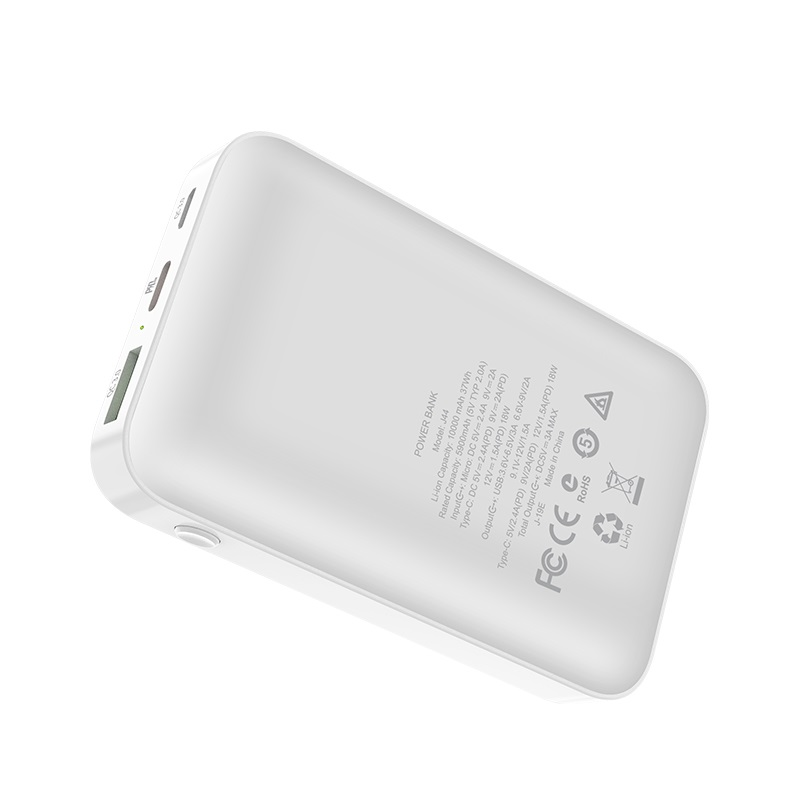 hoco j44 pd qc30 mobile power bank 10000mah back