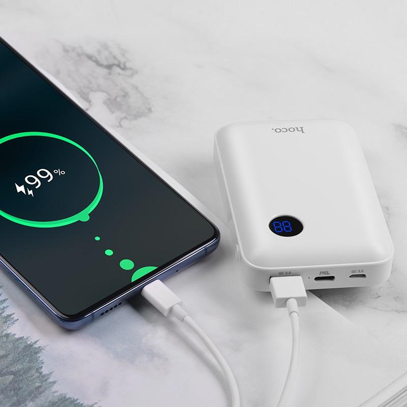 hoco j44 pd qc30 mobile power bank 10000mah charging