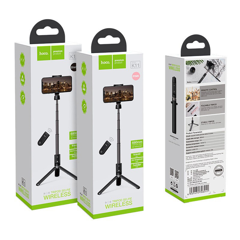 hoco k11 wireless tripod selfie stand packages
