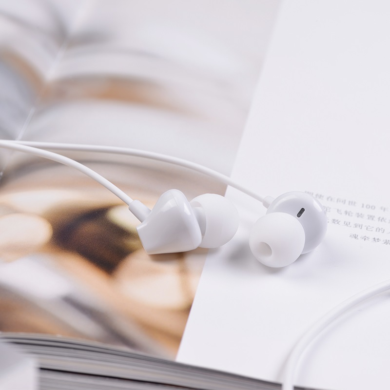 hoco m60 perfect sound universal wired earphones with mic interior white