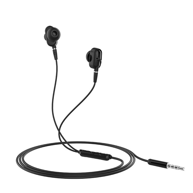 hoco m62 dazzling dual moving coil wired earphones with mic overview