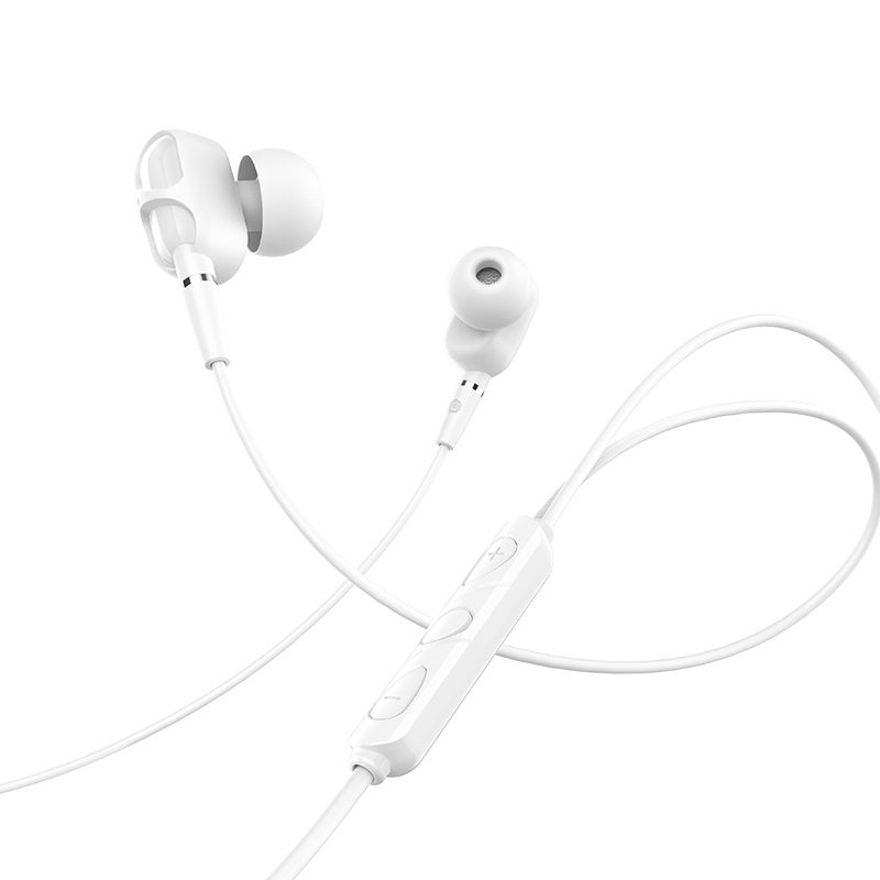 hoco m62 dazzling dual moving coil wired earphones with mic wire