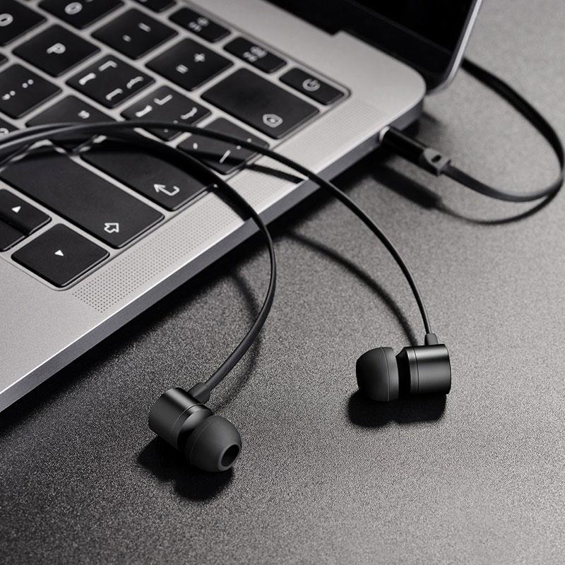hoco m63 ancient sound earphones with mic interior black