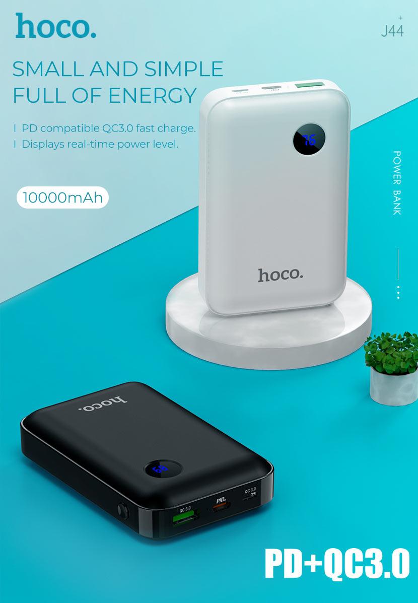 hoco news j44 pd qc30 mobile power bank 10000mah main en