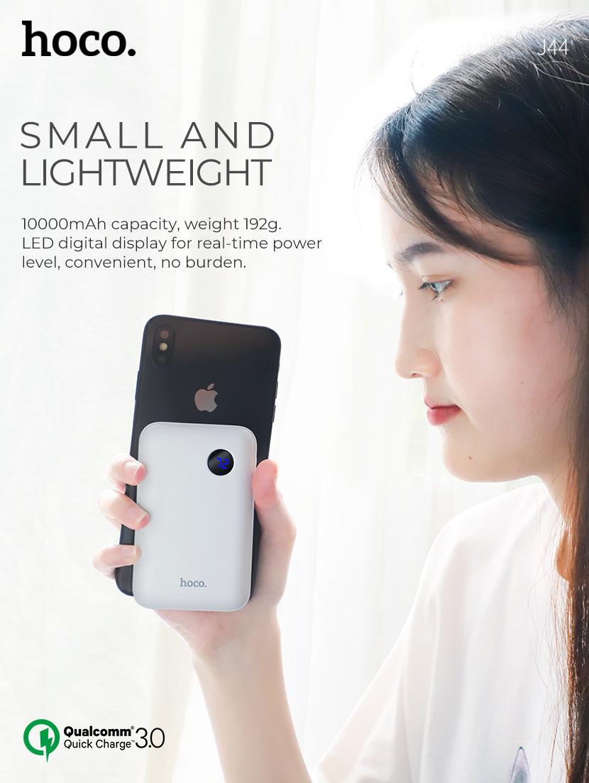 hoco news j44 pd qc30 mobile power bank 10000mah small en